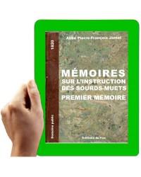 1820- Mémoire sur l'instruction des sourds muets (premier Mémoire)