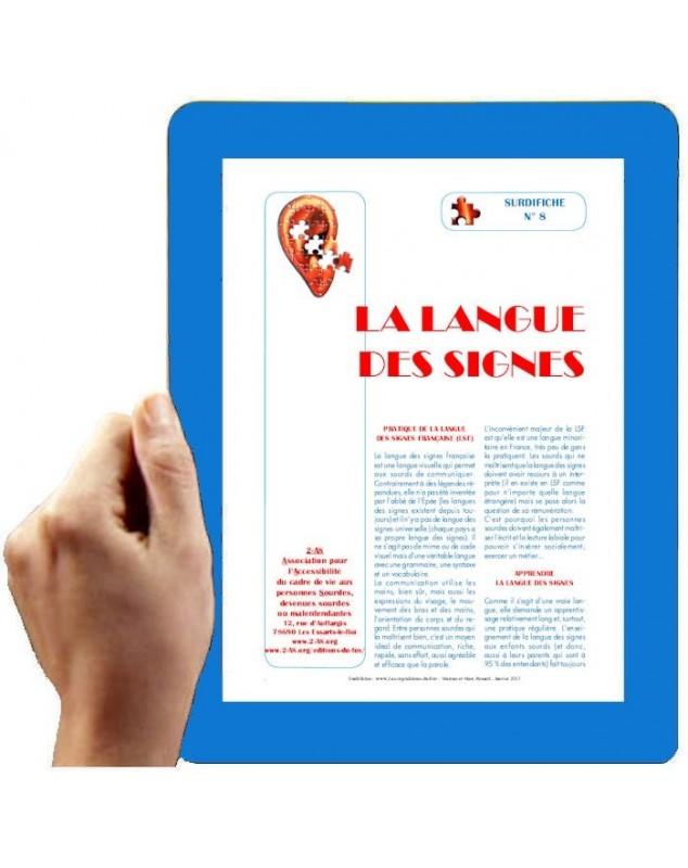 Surdifiche n° 8 - La langue des signes