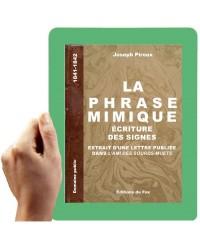 1841-La phrase mimique, ecriture des signes (Piroux, joseph)