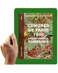 1900 - Congrès des sourds-muets, 1900, résumés