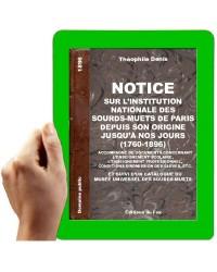 1896 - Notice sur l'institution nationale des Sourds-Muets de Paris