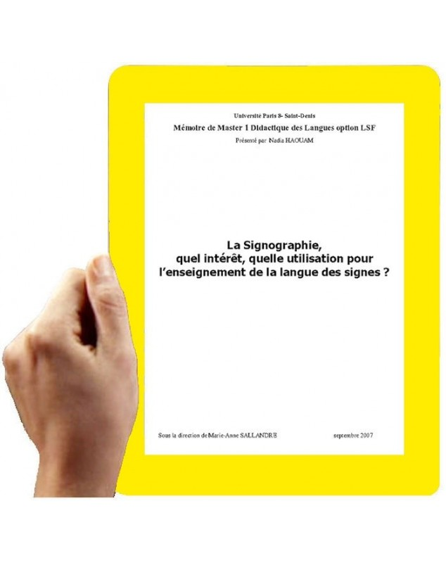 La Signographie, thèse n° 1