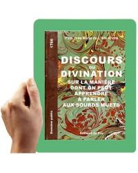 1766-Discours ou Divination (manière d'apprendre à parler aux S.-M.)