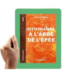 1835 - Dithyrambe à l'abbé de l'Epée (Pélissier)