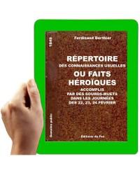 1849 - Répertoire des connaissances usuelles ou faits héroiques ( Berthier F.)